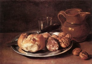 Still Life with bread by Ceruti 1750's