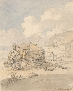 Study of 18th century farm cart by Alexander