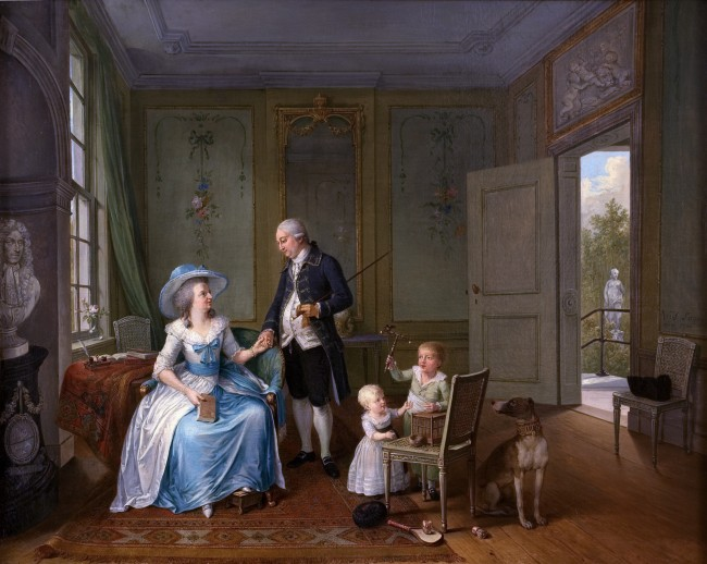 Arent Anthoni Roukens and family *oil on canvas *75.5 x 94.5 cm *signed c.r.: W J Laquy / pinxt 1786
