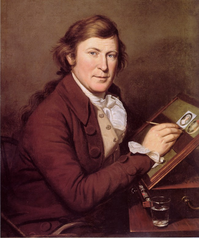 siftingthepast_Charles Peale Painting a Miniature by James Peale_1795