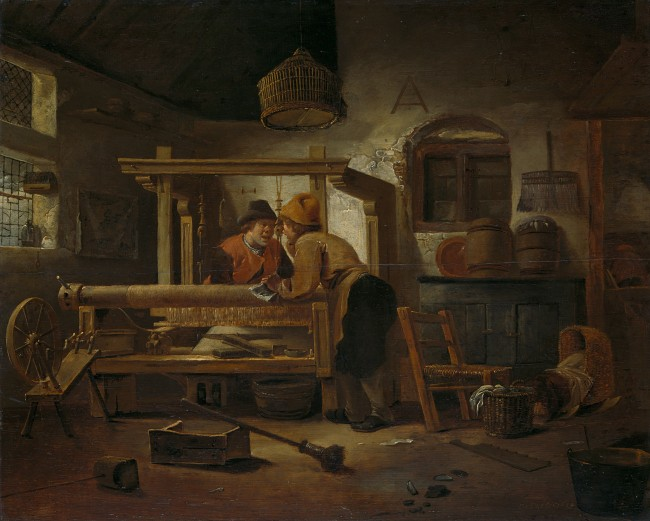 The Weaving Shop_Cornelis Gerritsz Decker(1615-1678)_1659