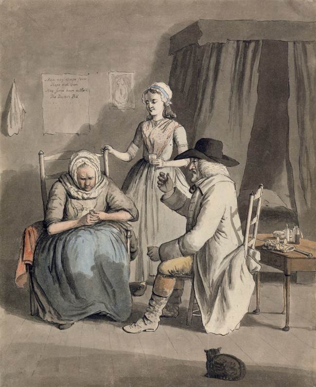 Yale Center for British Art, Paul Mellon Collection_The Doctor's Pill_John Collet(1725-1780)_